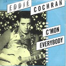 """Eddie Cochran C'Mon Everybody UK 45 7"""" sgl +Picture Sleeve +Don't Ever Let Me Go"""