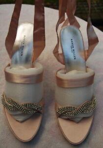 Stunning KAREN MILLEN pink diamante jewels sandals shoes 39 (UK 6) NEW boxed