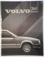 VOLVO 760 SERIES orig 1984 UK Mkt Glossy Prestige Sales Brochure - GLE Turbo