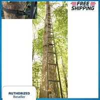 20' Tree Stand Ladder Deer Outdoor Bow Hunting Climbing Stick Treestand Crossbow