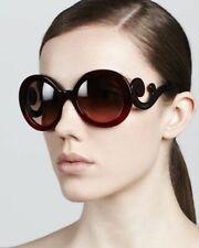 PRADA Designer BAROQUE SPR27N Burgundy Red Sunglasses w/Case