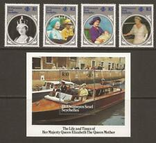 ZIL ELWANNYEN SESEL 1985 SG115/118 + MS119 Queen Mother MNH (JB20594)