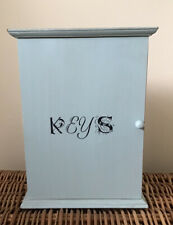 Painted Wooden Shabby Chic / Vintage Key Wall Mounted Storage Key Cupboard