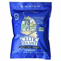 Light Grey Celtic Sea Salt 5 Pound Resealable  Assorted Sizes , Styles , *s