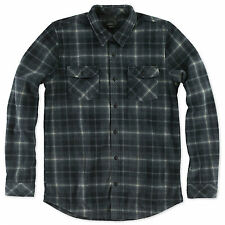 BNWT O'Neill Glacier Long Sleeve Flannel Fleece Shirt Medium Black