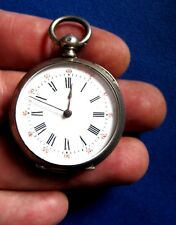 VINTAGE CYLINDRE  Pocket Watch, HUIT  RUBIS WORKING SILVER CASE