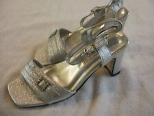 Silver Sandals Size 7, Flora Collection