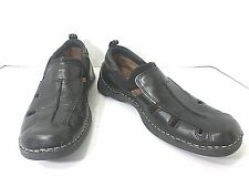Clarks Black Leather Slide On Sandals Mens Size 8.5M