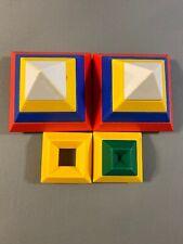 Lot of 11 Wedgits Wedgit Building Blocks Good Condition Widgets Pyramid