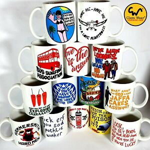 Bottom MUG Rik Mayall cup Ceramic Coffee Gift retro comedy UK funny Young Ones