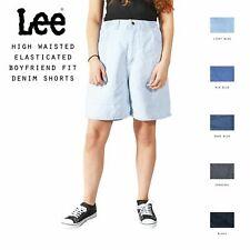 Grado A Lee Vintage Mujer Talle Alto Elástico Boyfriend Fit Pantalones Cortos