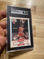 Michael Jordan SGC 8.5 NBA Fleer 1990 #26 Collector FIGHT INFLATION Last Dance
