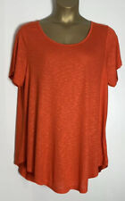 Evans Orange Jersey Tunic Top Size 22/24 New