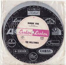 """THE DELLTONES - HANGIN' FIVE  Ultrarare 1963 Aussie 7"""" SURF Single Release!"""