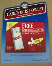 Carlton cigarettes free Carlton lighter advertising w/redemption coupons