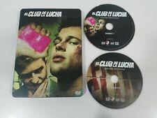 El Club de la Lucha - Steelbook 2 x DVD Brad Pitt Edward Norton Español English