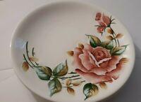 """4 Vintage Beautiful Hand Painted Raised kiRoses Cake Plates 7""""1/2"""