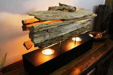 XL Lámpara de mesa Madera Flotante Driftwood Shabby Vintage Pie Antiguo
