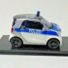 Busch 50710 Smart Fortwo Polizei Modellauto, 1/87 Neu + OVP