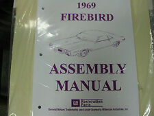 1969 69 FIREBIRD & TRANS AM (ALL MODELS) ASSEMBLY MANUAL