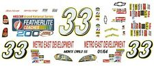 #33 Kevin Harvick Featherlite 2007 Chevy 1/64th Ho Scale Slot Car Decals