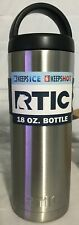 (NEW) RTIC 18oz Stainless Steel Bottle Hot Cold Travel Double Wall Insulated