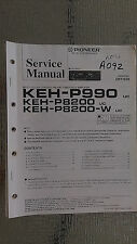 Pioneer keh-p990 p8200 w service manual original repair book stereo radio cars a