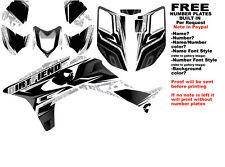 DFR TRACTION GRAPHIC KIT BLACK SIDES/FENDERS 04-05 HONDA TRX450R TRX 450
