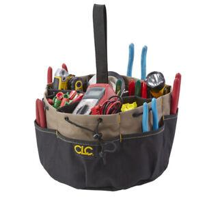 CLC Custom LeatherCraft 1148 18 Pocket Drawstring Bucket Bag Tool Carrier Holder