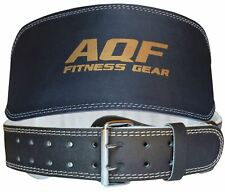 """AQF Weight Lifting 6"""" Leather Belt Back Support Gym Power Training Fitness AU"""