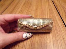 Gold Sparkle Lipstick Case