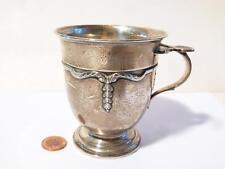 Antique Birm 1921 Gorham Manufacturing Co Silver Christening Mug Superb Swags