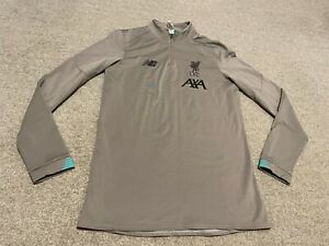 LIVERPOOL NEW BALANCE GREY LONG SLEEVES TRAINING TOP SIZE S