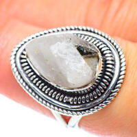 Rainbow Moonstone 925 Sterling Silver Ring Size 7.25 Ana Co Jewelry R55718F