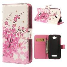 Schutz Tasche Hülle Cover Case f Alcatel One Touch Pop C7 BLÜTEN ROSA WEIß 04D2