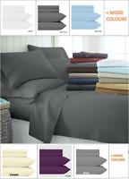 3 Piece Bed Sheet Set Super Soft Microfiber 1000 Thread Count with Deep Pocket