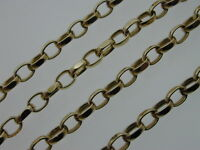 "22 3/4"" 9 Ct Yellow Gold Belcher Solid Chain 11.5 Grams Thick Links Lobster Claw"
