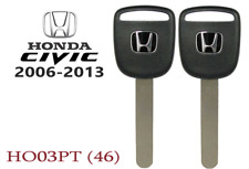 2 Honda Civic 2006-2013 New transponder Chip Key replacement USA Seller A+++