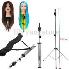 Adjustable Tripod Stand Clamp Hairdressing Wig Practice Head Model Holder + Bag