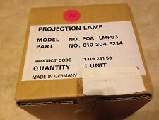 Projection Lamp in Housing NEW in box POA-LMP63 POALMP63 LC-XNB5MS Projector