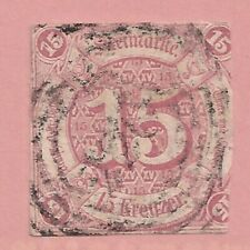Germany(Thurn & Taxis)   Sc# 51  Imperf   1859   Used   Cat Val $210   gtc30
