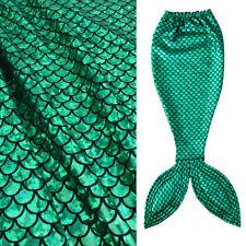 "Green Scale Mermaid Fabric Hologram Spandex 2 Way Stretchy 60"" Wide by Yard"