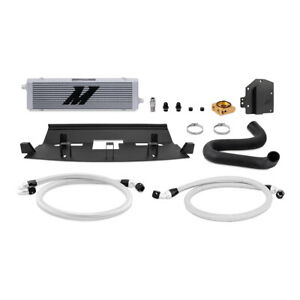 Mishimoto Right-Hand Drive Oil Cooler Kit fits Ford Mustang, 2018+, Silver