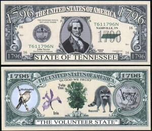 Bankbiljet billet Amerikaanse staten - Tennessee 1796