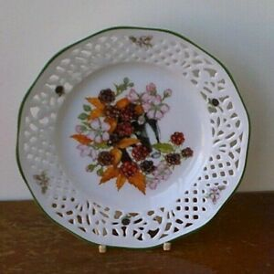 Vintage Cruse & Company Fine Porcelain 'Floral Design' Hanging Plate.