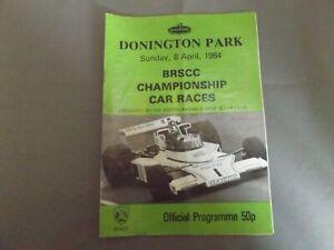 1984 DONINGTON PROGRAMME 8/4/84 - BRSCC CAR RACES - TONY TRIMMER McLAREN COVER