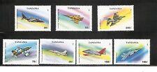 Tanzania SC # 1160-1166 Military Aircraft .  MNH