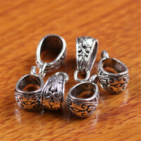 50pcs Charms Tibetan Silver Connector Bail For Pandent DIY Jewery Making H066