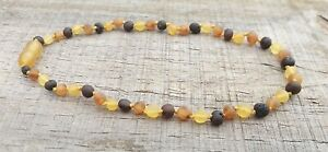 RAW* MULTI COLOUR CHILD NECKLACE BALTIC AMBER - JEWELLERY BEADS + FREE POST