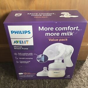 Philips Avent SCF330/70 Manual Breast Pump Includes 12 Breast Pads - Brand New